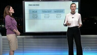 Madrugadas frescas continuam mas não teremos mais recorde de frio essa semana - Nesta quarta-feira (23) uma frente fria passa em alto mar e faz a quantidade de nuvens aumentar ao longo do dia. Na quinta (24) e sexta (25) tem previsão de chuvinha fraca.