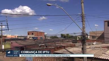 Dúvidas nos boletos de IPTU dos moradores da Vila São José - Os moradores reclamam que os boletos estão chegando sem o nome dos contribuintes. A área em Brazlândia, no DF, ainda está sendo regularizada.