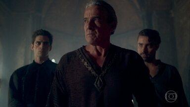 Otávio teme que Afonso descubra o paradeiro de Augusto - O Rei da Lastrilha decide ir ao Conselho da Cália, incentivado por Virgílio