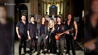 Angra comenta encontro musical com Sandy - Banda canta 'Magic Mirror'