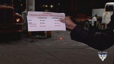 Parte dos postos da Baixada Santista não reduz preço do diesel - Redução foi o principal pedido dos caminhoneiros durante greve.