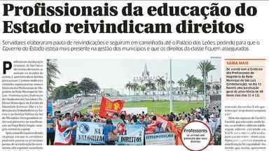 Destaques do jornal O Estado do Maranhão desta terça-feira (5) - Destaques do jornal O Estado do Maranhão desta terça-feira (5).