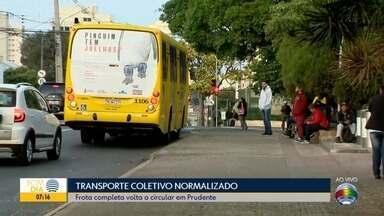 Transporte coletivo volta ao normal em Presidente Prudente - Ônibus trafegaram de forma reduzida nos últimos dias.