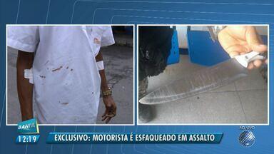 Motorista de ônibus é esfaqueado durante assalto a coletivo no bairro do Itaigara - Esse é o segundo caso grave de violência contra rodoviário ocorrido em menos de uma semana, em Salvador.
