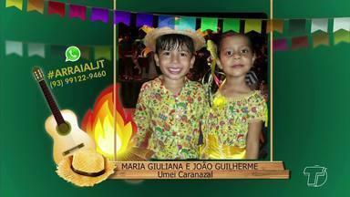 'Arraiá JT': Veja as fotos e vídeos de crianças durante a quadra junina - Envie as fotos e vídeos para (93) 99122 9460 com #ARRAIALJT.