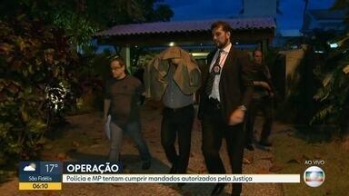 Polícia e MP realizam operação contra desvios de verbas na saúde do Rio - Polícia Civil realiza mandados autorizados pela Justiça. A polícia prendeu sócios de uma empresa de biotecnologia. São investigados contratos realizados com a empresa Bio Rio.