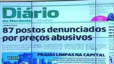 Confira a capa do Diário do Nordeste nesta sexta-feira (6) - Saiba mais em g1.com.br/ce