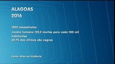 Atlas da violência mostra Alagoas como o 2º estado mais violento do Brasil em 2016 - A repórter Heliana Gonçalves traz mais informações sobre o assunto.