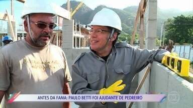 Paulo Betti revela profissão antes da fama - Ator trabalhou como ajudante de pedreiro quando era mais jovem
