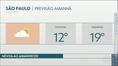 Temperatura cai ainda mais na sexta-feira - A máxima não deve passar dos 19 graus