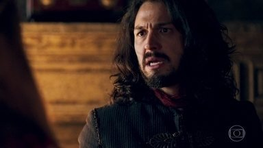 Afonso briga com Amália - Rei não aceita as justificativas da ruiva e reprova o destempero dela contra Catarina