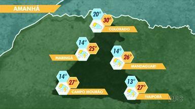 Previsão de céu claro em Maringá - E o domingo deve ficar mais quente que os últimos dias