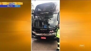 Ônibus de comerciantes é assaltado na Serra catarinense - Ônibus de comerciantes é assaltado na Serra catarinense