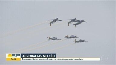 """""""Arraiá Aéreo"""" reúne milhares de pessoas em Bauru - Atrações típicas dividiram espaço com aviões e acrobacias aéreas."""