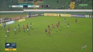 Guarani empata com o Vila Nova no Brinco de Ouro - Confira os gols da partida disputada no sábado.
