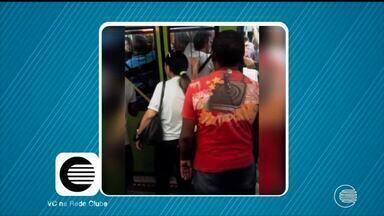 Telespectador envia vídeo denunciando insuficiência de ônibus para atender demanda - Telespectador envia vídeo denunciando insuficiência de ônibus para atender demanda