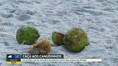 Canudos de plásticos são proibidos perto das praias de Arraial do Cabo - Um lei publicada ontem em Arraial do Cabo proíbe que estabelecimentos comerciais perto das praias usem ou distribuam canudos de plásticos. A medida é para proteger o meio ambiente.