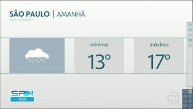 Quinta-feira deve ter chuva e frio - Temperatura máxima deve ser de 17 graus na Capital