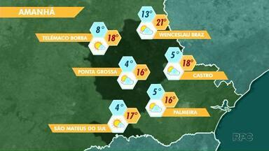 Massa de ar frio avança pelo Paraná e derruba temperaturas nos Campos Gerais - O tempo fica mais seco a partir desta quinta-feira (14) em Ponta Grossa.