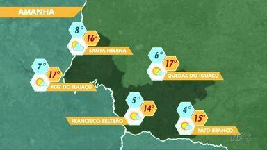 Tempo segue gelado na região - Veja a previsão no mapa.