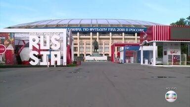 Abertura da Copa da Rússia acontece nesta quinta-feira (14) - A Rússia, país sede, entra em campo pra enfrentar a Arábia Saudita no jogo de estreia.