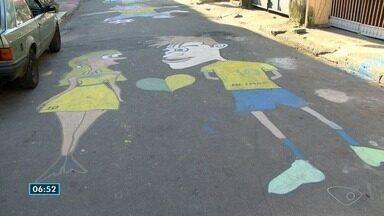 Torcedores do ES enfeitam ruas para a Copa do Mundo - Em muitos bairros, a Copa já começou.
