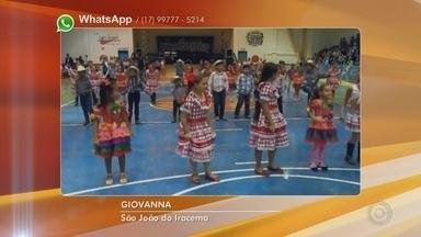 Telespectadores enviam vídeos aproveitando as festas juninas da região noroeste paulista - Confira os vídeos enviados pelos telespectadores em clima de festa junina à TV TEM.