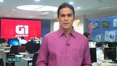 Confira a capa do Diário do Nordeste desta quinta-feira (14) - Saiba mais em g1.com.br/ce