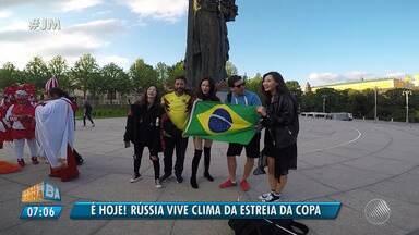 'Pedrovsky na Rússia': Pedro Canísio mostra o clima de estreia em Moscou - A Copa do Mundo na Rússia começa nesta quinta (14).