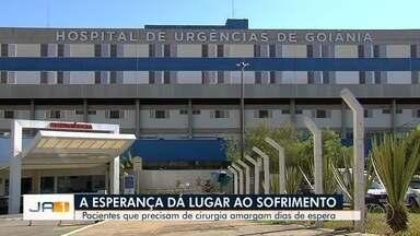 Pacientes ainda reclamam da espera por cirurgias no Hugo, em Goiânia - Em um dos casos, paciente está com duas fraturas e aguarda pelo procedimento há uma semana.