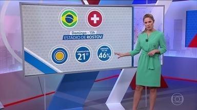 Entenda o WBGT, a sigla que vai definir os jogos na Rússia - Antes dos jogos, as comissões técnicas de cada seleção recebem informações especiais da meteorologia para saber qual vai ser o desgaste físico dos jogadores durante as partidas.