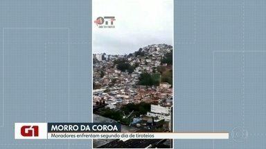 Moradores do Morro da Coroa convivem com intensos tiroteios há dois dias - A polícia faz uma operação na comunidade nesta sexta-feira (15).