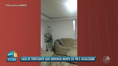 Polícia encontra casa de traficante suspeito por ordenar morte de PM - O imóvel fica no bairro de Santa Cruz. O suspeito segue foragido.