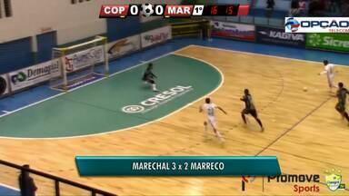 Marechal vence o Marreco pela série ouro do paranaense - Hoje à noite o Toledo enfrenta o Paranavaí fora de casa.