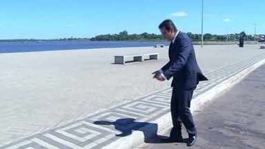 Ponto turístico em Araguaína é alvo de críticas pela falta de acessibilidade - Ponto turístico em Araguaína é alvo de críticas pela falta de acessibilidade