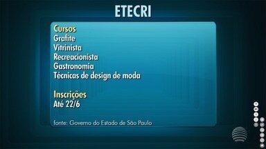Cursos gratuitos da Etecri estão com inscrições abertas em Presidente Prudente - Interessados deverão ir à Etec do Colégio Agrícola.