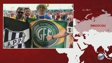Tô na Rússia: torcedores de Campinas acompanham a Copa do Mundo em Moscou - Repórter da EPTV Luís Corvini assiste ao jogo entre Polônia e Senegal.