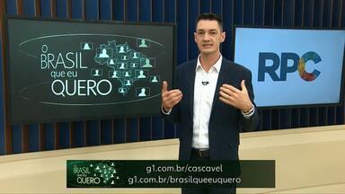 Responda: Que Brasil você quer para o futuro? - Entre Rios do Oeste pode ter um representante nos jornais da Globo.