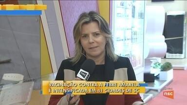 Saúde intensifica vacinação contra a febre amarela em cidades de SC - Saúde intensifica vacinação contra a febre amarela em cidades de SC