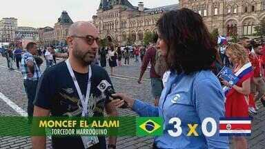 Direto da Rússia, torcedores apostam em bolão para segundo jogo do Brasil na Copa - Assista ao vídeo.