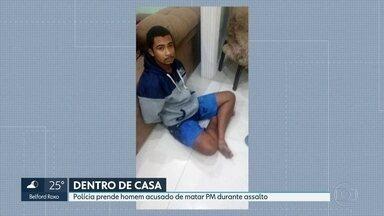 Polícia prende homem acusado de assassinar sargento da PM durante assalto - Teve também operação no Complexo do Lins. Cinco pessoas foram presas. Autoestrada Grajaú-Jacarepaguá ficou fechada por seis horas.