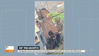 Policial morre baleado na cabeça em Operação no Morro dos Macacos - O sargento Pinheiro chegou a ser socorrido, mas não resistiu.