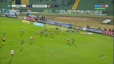 Em partida marcada por erros de arbitragem, Guarani e Boa Esporte empatam na Série B - Times seguem no meio da tabela, entre o G-4, no Campeonato Brasileiro.