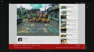 Tô na Rede: amapaenses compartilharam a vitória do Brasil contra o México, no AP - Felicidade e otimismo rechearam a página do aplicativo da Rede Amazônica