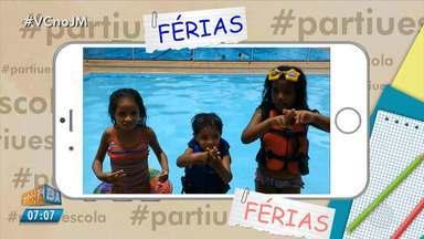 Estudantes mandam vídeos para o quadro #partiuférias - Confira as imagens.