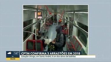 Arrastões nos trens da CPTM assustam usuários e funcionários em Santo André - Passageiros estão com medo de embarcar nos últimos horários