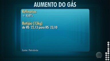 Petrobras anuncia reajuste no preço do botijão de gás - Aumento pode chegar ao consumidor final.