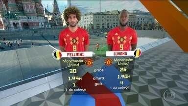 Fellaini e Lukaku são peças fundamentais no ataque para furar a defesa brasileira - Fellaini e Lukaku são peças fundamentais no ataque para furar a defesa brasileira