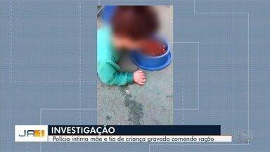 Conselho Tutelar fala sobre vídeo de menino deficiente de 2 anos comendo ração em Trindade - Caso é investigado pela Polícia Civil.