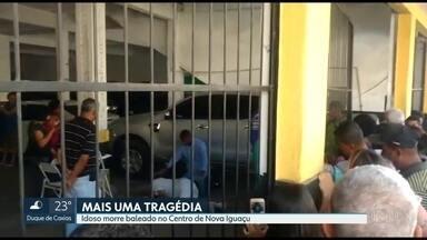 Idoso morre baleado em Nova Iguaçu - Roberto de Oliveira trabalhava medindo a pressão das pessoas na rua quando foi atingido durante uma tentativa de assalto.
